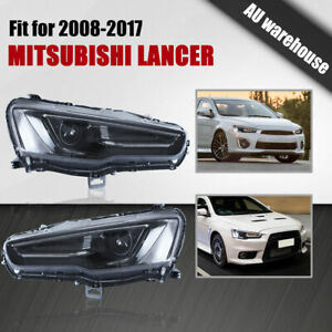 LED DRL Projector Headlights for 2008-2017 Mitsubishi Lancer CJ CF EVO X Sedan