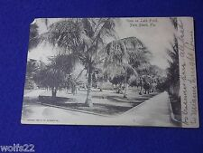 Post Card ~ Vista on Lake Front, Palm Beach Fl ~ with Stamp ~ June 1905