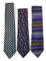 Cocktail Collection Silk Men's Ties Lot of 3 Scotch