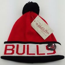 963fa18e966f5 Chicago Bulls Cuffed Knit Pom Beanie MLB Winter Hat Mitchell   Ness with