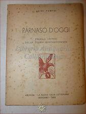 POESIA CONTEMPORANEA Lionello FIUMI Illustrato: Pumpo, PARNASO D'OGGI 1953