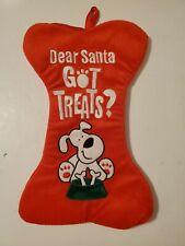 New listing Pet Dog Bone Christmas Stocking, Dear Santa Got Treats? DanDee Collectors Choice