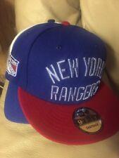 7dc13ae65b6 NEW YORK RANGERS Goal Hat Cap New Era 9fifty Adjustable