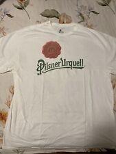 Pilsner Urquell Beer Men's White T-shirt Size Xl Cotton Preshrunk Vintage Look