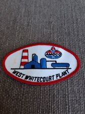 "Vtg Amoco West Whitecourt BP Oil Sew On Patch 4"" Gas Petroleum Alberta"
