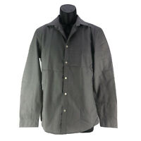 H&M Men's Gray Easy Iron Button Up Casual Shirt Size Small
