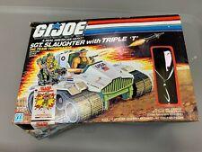 G.I. Joe Vintage Sgt. Slaughter Triple T Tank with box 1986 Hasbro Incomplete
