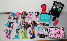 Huge Monster High Girl Doll Lot w/ Stands Shoes Clothes & Accessories