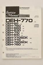 PIONEER DEH-770/85/760/660/630/710/610 Original Service-Manual/Schaltplan! o67