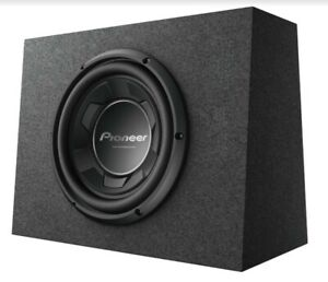 "New Pioneer TS-WX106B 1100 Watts 10"" Pre Loaded Compact Subwoofer Enclosure Box"