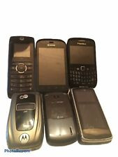 🔥Lot Of 6 Cell Phones Mobile Phones Nextel Blackberry Lg Kyocera Motorola🔥
