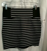 Charlotte Russe Women's Size Small Mini Skirt Black Striped New with Tags