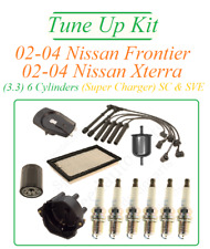 Tune Up For 02-04 Nissan Frontier Xterra 3.3v6: SparkPlug Cap Rotor WireSet Fuel