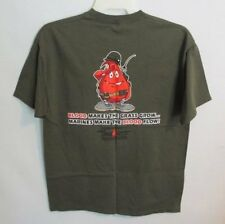 Marines Make the Blood Flow olive green short sleeve graphic tee *Sz L*