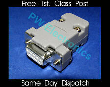 9 Way D Socket DB9  Connector Complete with Cover/Hood/Shell