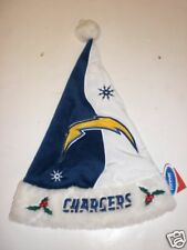 """WHOLESALE LOT OF 48  SAN DIEGO CHARGERS 18"""" CHRISTMAS SANTA HATS LESS THAN $10"""