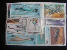 ******TIMBRES HELICOPTERES : 50 TIMBRES TOUS DIFFERENTS / STAMPS HELICOPTER ****