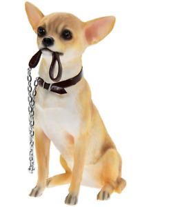 Chihuahua large 18cm quality lifelike Leonardo ornament figurine, gift boxed