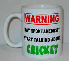 Warning May Start Talking About Cricket Mug Can Personalise Sport Ashes Fan Gift