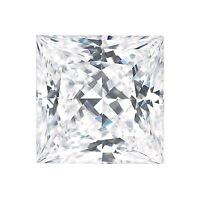 Forever One Moissanite PRINCESS Cut 2.8 carat 8mm Loose C & C Colorless DEF