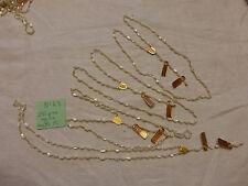 49/ lot  4 collier chapelet inachevé perle en nacre ancienne monté sur plaqué or