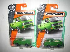 MATCHBOX LOT OF TWO (2) 2017 VOLKSWAGEN TRANSPORTER CAB MOMC LOW US SHIP BOTH
