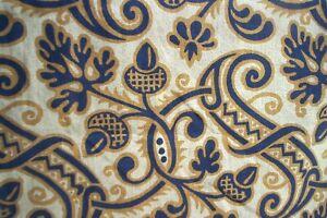 """Laura Ashley acorn oak leaf SINGLE curtain 81""""d x 110""""w"""