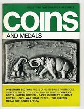 COINS & MEDALS - 64 Page Magazine August 1968 Good Reference
