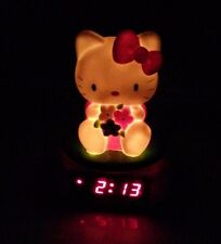 Sanrio Hello Kitty Pink Digital LED Alarm Clock with Snooze & Night Light
