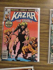 KA-ZAR THE SAVAGE 1-34 Complete Series! Marvel Comics 1981