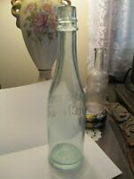 Pride Of The farm Catsup bottle 1890-1920 Aqua,Blown Cork, lots of Bubbles,9 in