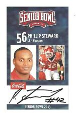 Phillip Steward 2013 SENIOR BOWL Autographed RC Signed Rookie Card Houston