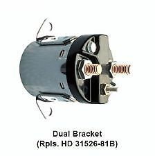DUAL BRACKET ZINC PLATED SOLENOID FOR HARLEY BIG TWIN 1980-1988 EXCEPT SOFTAILS