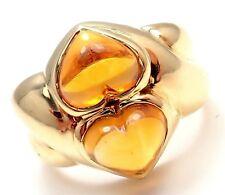 authentic bvlgari bulgari 18k yellow gold citrine ring size 625