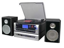 Steepletone Metro 6-in-1 Music Centre Record Player to CD Burner CD to CD,Tape