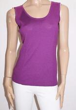 MARCO POLO Brand Regal Purple Wool Rib Knitwear Vest Top Size S BNWT #SJ06