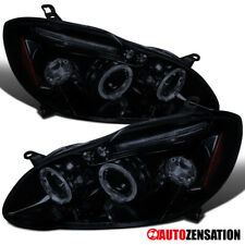 For 2003-2008 Toyota Corolla Glossy Black Smoke LED Halo Projector Headlights