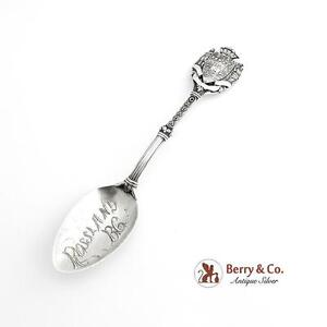 top Canada pre-owned QC /& Colored Maple Leaf on Silver Plated Souvenir Spoon Montreal bowl
