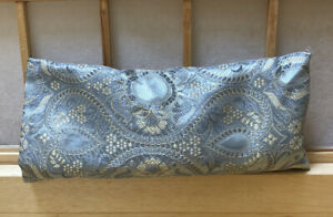 NEW Silk Scented Eye Pad Pillow Silver Tapestry print Relaxation Flax seed fill