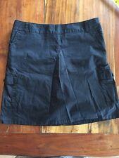 Women's Dockers Skort ~ Black ~ Sz 4 Above Knee Cotton/Spandex Cargo Pocket R54