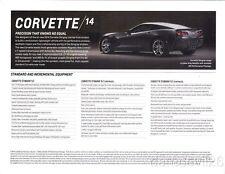2014 Chevy Corvette Stingray 1LT info card