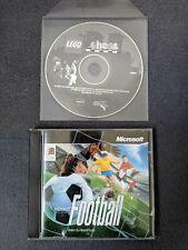 Lego Schach (1998) & Microsoft Fußball (1996) PC CD-Rom Spiele für Windows VGC