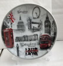 London Decoration Showpiece Office Table Display Plate With Stand Souvenir Gift