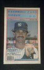 1986 Don Mattingly Yankees Baseball Card Digest Oddball Sports Photo Magazine