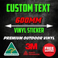 600mm CUSTOM STICKER - Vinyl DECAL Text Name Lettering Car Window Van