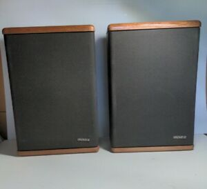 Pair 2 Vintage Advent Baby Advent II 2-way Speakers System Wood Grain Finish