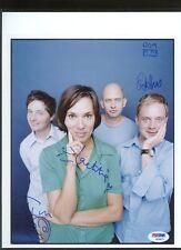 S10671 Stereolab Gane Jeffery Sadier Signed 8x10 PSA/DNA LOA AUTO Autograph
