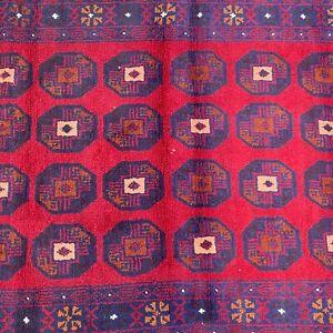 "Handmade Afghan Rug Tribal Patterns Geometric Design 100% Camel Hair 3'7""x6'5"""