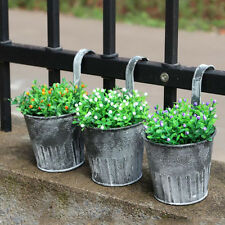 Vintage Wall Hanging Flower Pot Garden Fence Balcony Plant Holder Bucket Eyeful
