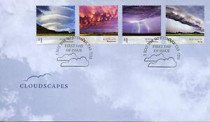 Australia 2018 FDC Cloudscapes Clouds Cumulonimbus Arcus 4v Set Cover Stamps